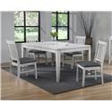 E.C.I. Furniture Summer Winds 5 Piece Table and Chair Set - Item Number: 0425-80-LT-X4-S1