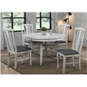 E.C.I. Furniture Summer Winds 5 Piece Table and Chair Set - Item Number: 0425-80-RT+RB+4XS2