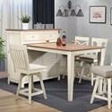 E.C.I. Furniture 0740 Pub Table and Media Cabinet Combo - Item Number: 0740-20-MT+MC