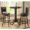 E.C.I. Furniture Dining  3-Piece Pub Dining Set - Item Number: 1266-35+2xN1308-35-BS29