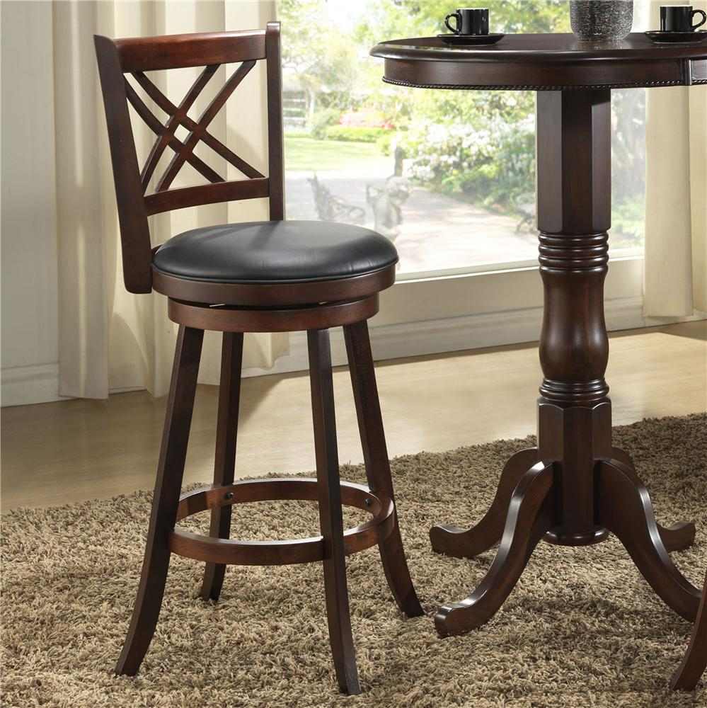 "E.C.I. Furniture Burnished Collection 24"" Swivel Counter Stool - Item Number: 1300-35-BS24"