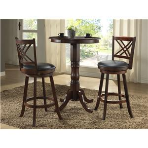 3Pc Bar Height Pub Table & Stools