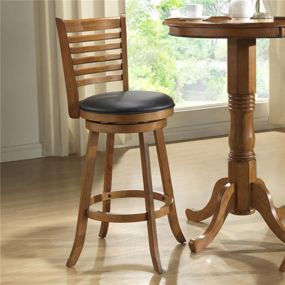 "E.C.I. Furniture Burnished Collection 24"" Swivel Counter Stool - Item Number: 1307-03-BS24"