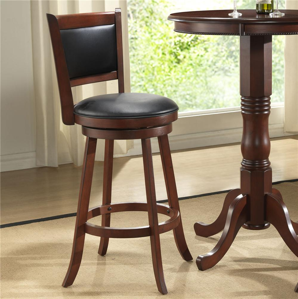 """E.C.I. Furniture Burnished Collection 24"""" Swivel Counter Stool - Item Number: 1308-35-BS24"""