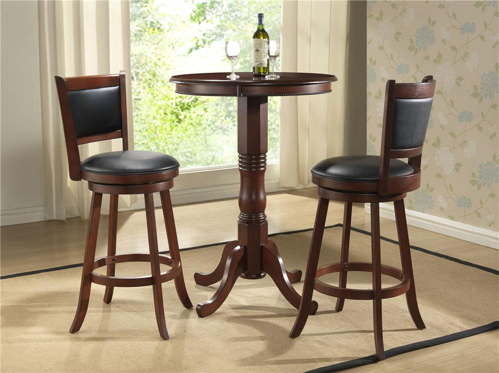 E.C.I. Furniture Burnished Collection 3Pc Counter Height Pub Table & Stools - Item Number: 1308/BKIT