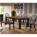 E.C.I. Furniture Acacia Backless Dining Bench