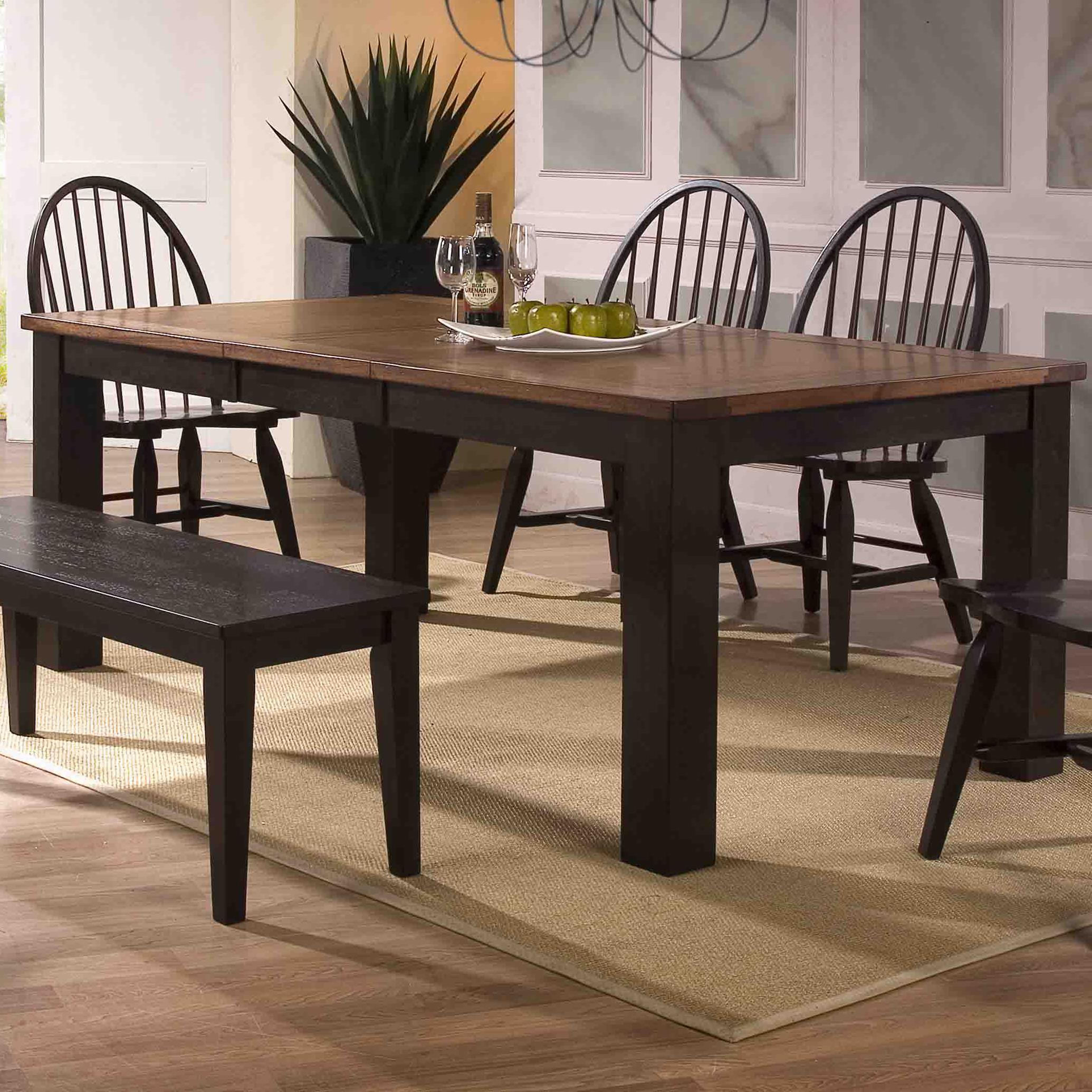 E.C.I. Furniture Acacia Leg Table - Item Number: 3073-00-T