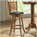 E.C.I. Furniture Bar Stools Rustic Ladder Back Swivel Stool - Item Number: 1307-04-BS-24