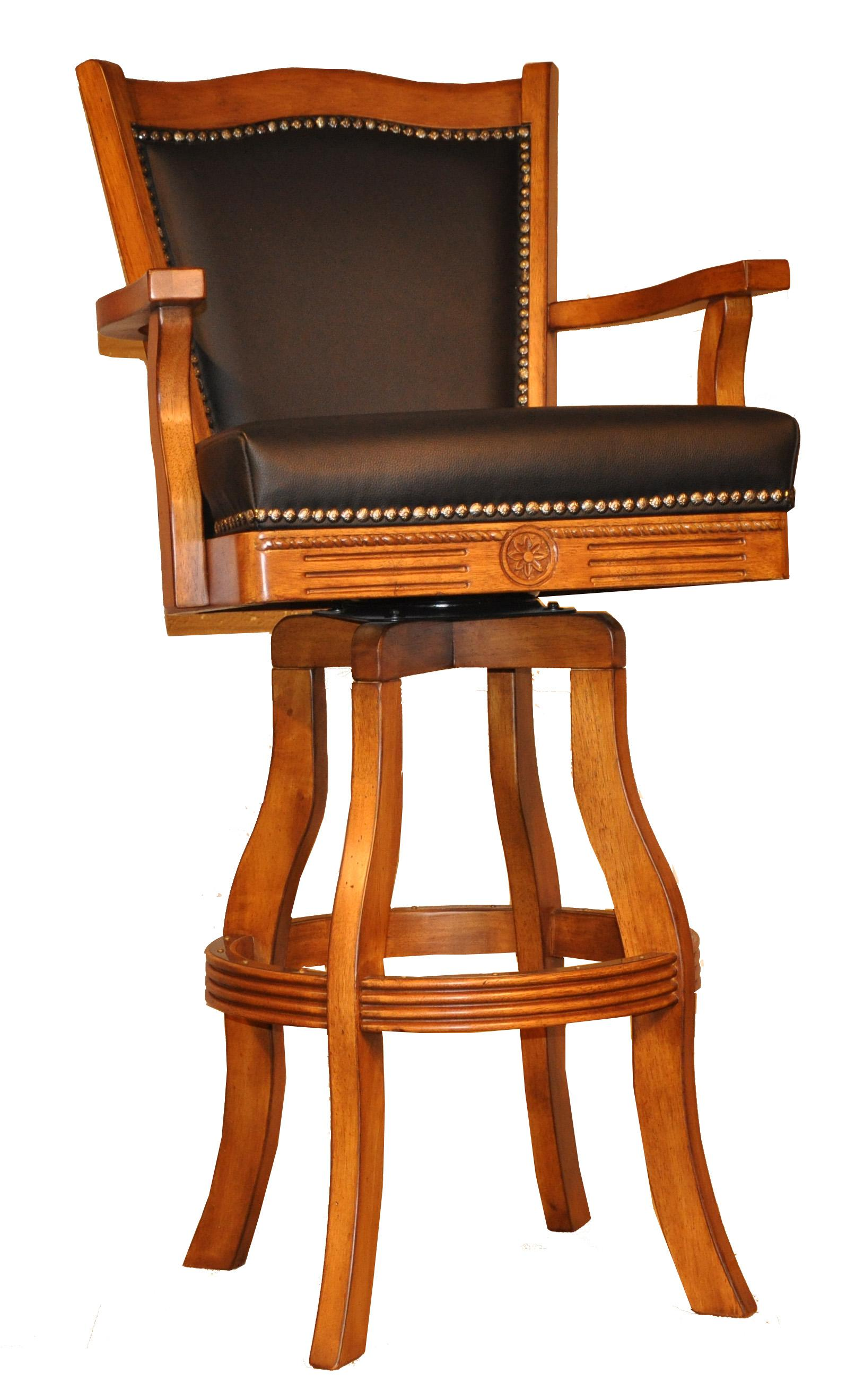 "E.C.I. Furniture Bar Stools 30"" Leather Nailhead Barstool - Item Number: 7040-03-BS-30"