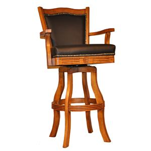 "E.C.I. Furniture Bar Stools 30"" Leather Nailhead Barstool"