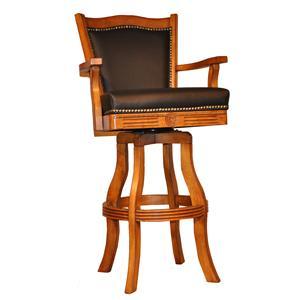"""E.C.I. Furniture Bar Stools 30"""" Leather Nailhead Barstool"""
