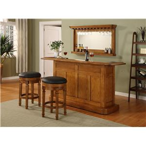 E.C.I. Furniture Bars Nova Oak Bar with Mirror