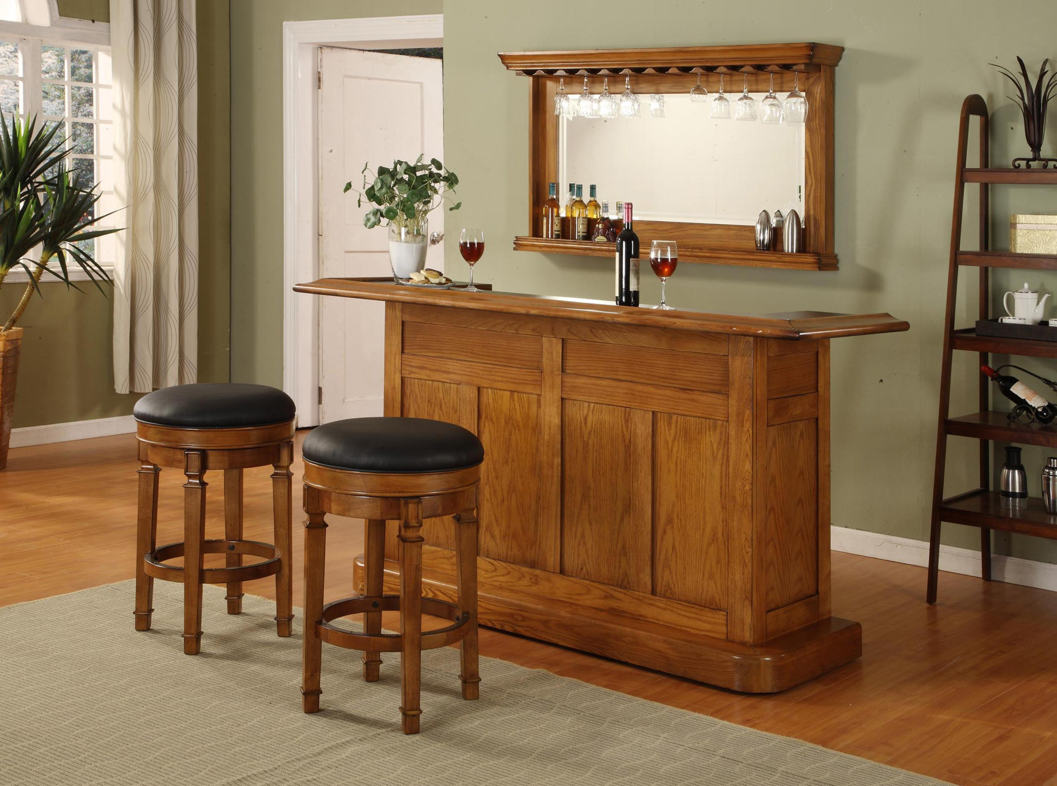 E.C.I. Furniture Bars Nova Oak Bar - Item Number: 1101-03-T+B