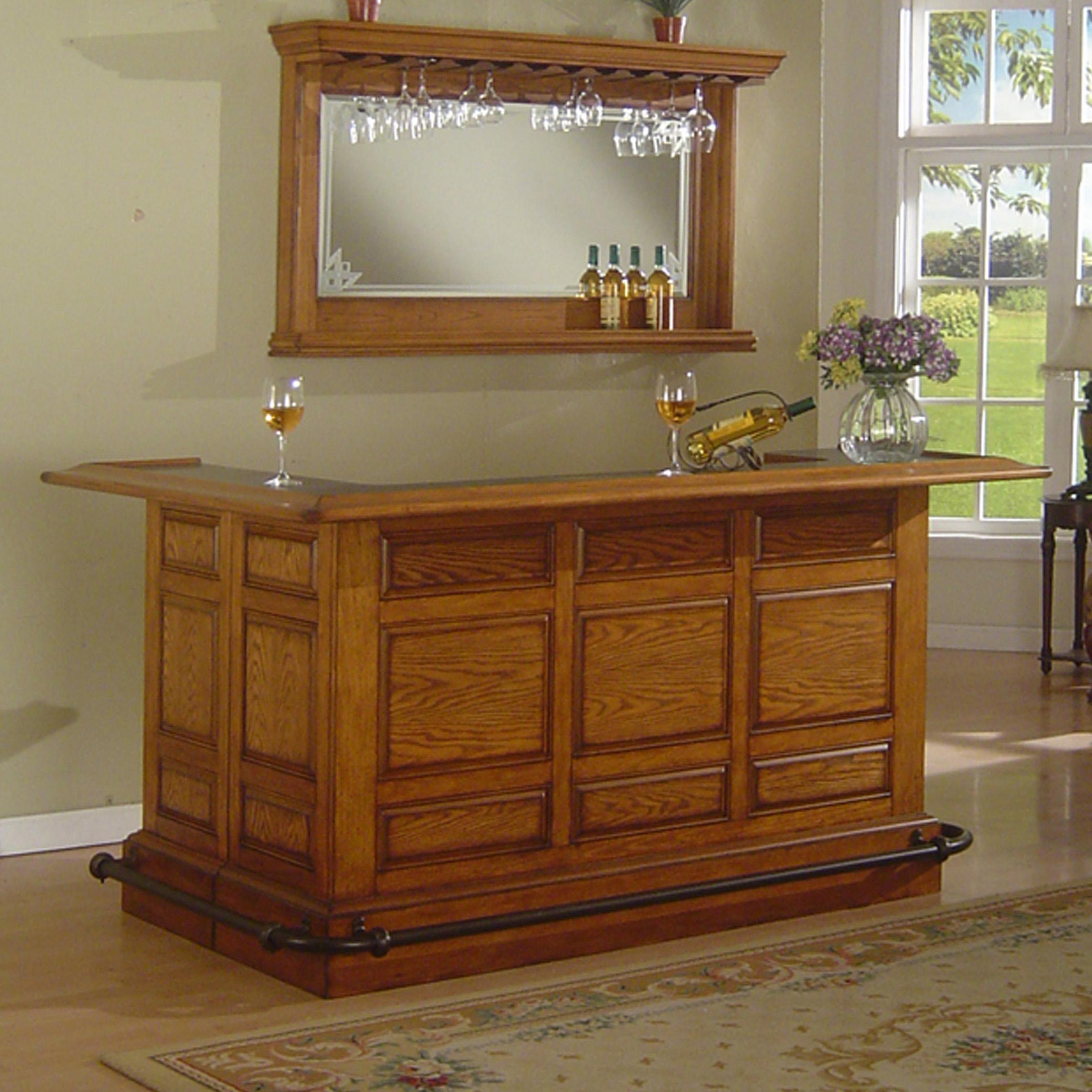 E.C.I. Furniture Bars Manchester Raised Panel Bar - Item Number: 1150-03-RB+RT+R