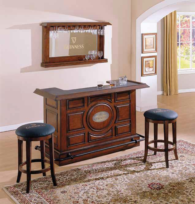 E.C.I. Furniture Bars Guiness Bar with Mirror - Item Number: 1235-35-PT+PB+1235-35-BM