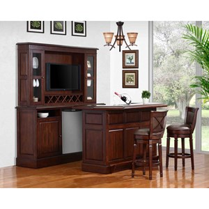 E.C.I. Furniture Belvedere-0411 Complete Bar and Stool Set