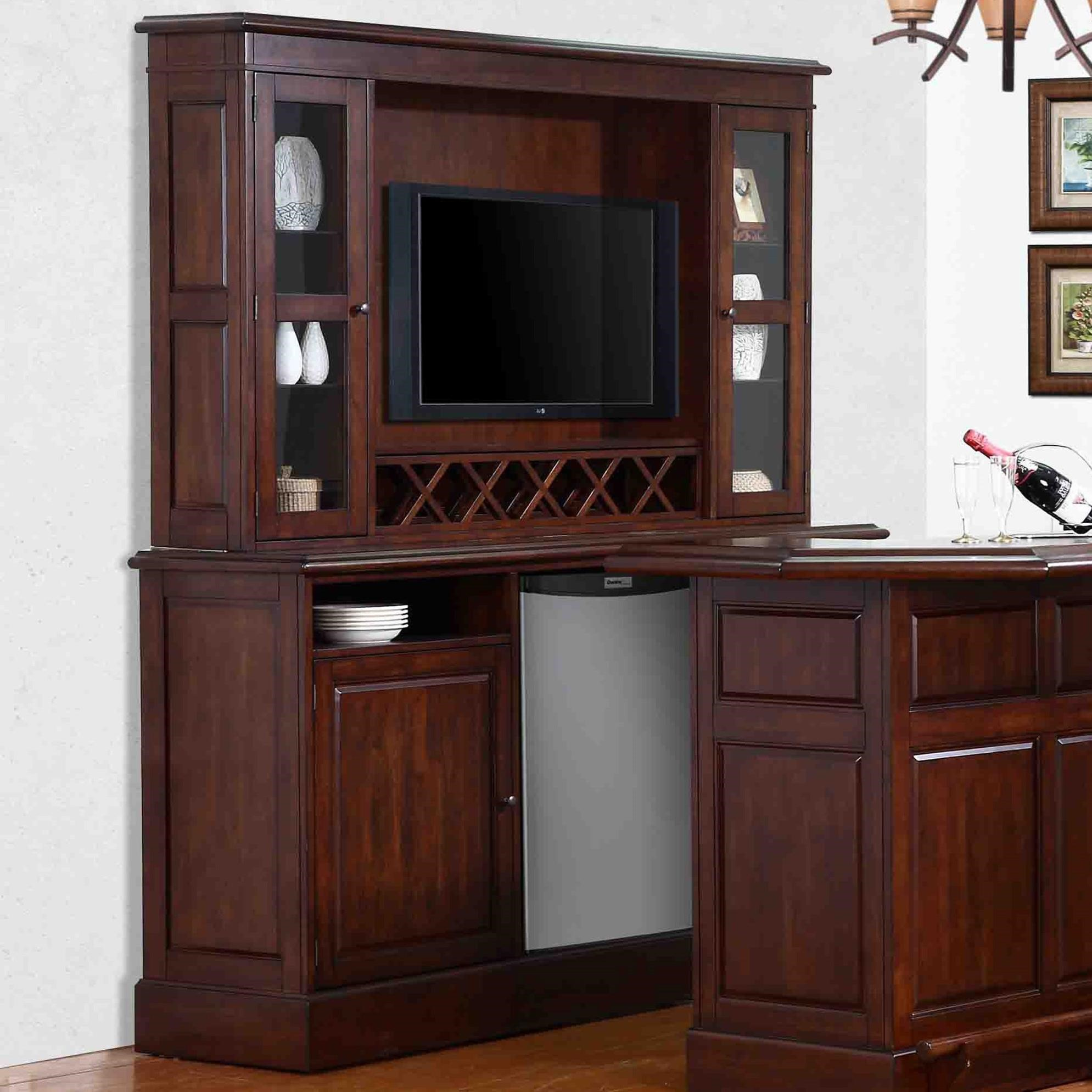 Belvedere-0411 Back Bar Base + Hutch by E.C.I. Furniture at Northeast Factory Direct