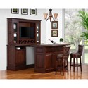 E.C.I. Furniture Belvedere-0411 Bar Set with Stools - Bar Back and Hutch Sold Separately