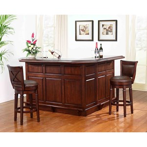 E.C.I. Furniture Belvedere 0411 Bar Set With Stools