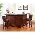E.C.I. Furniture Belvedere-0411 Bar Set With Stools - Item Number: 0411-35-T+B+R+2x1200-35-PGS