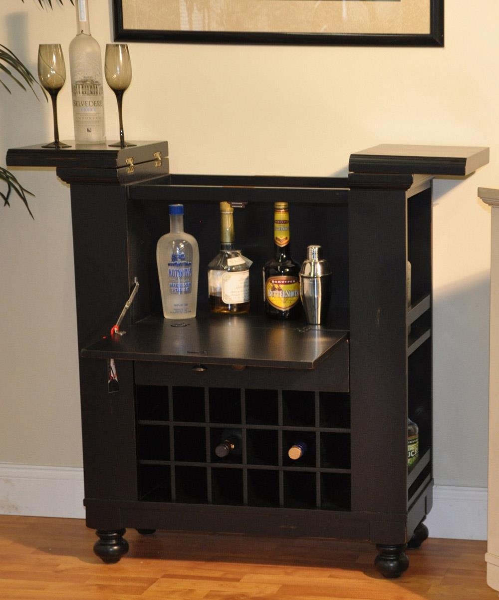 E.C.I. Furniture Dining  Wine/Spirit Cabinet: Black - Item Number: 1866-10-WB