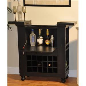 E.C.I. Furniture Dining  Wine/Spirit Cabinet: Black