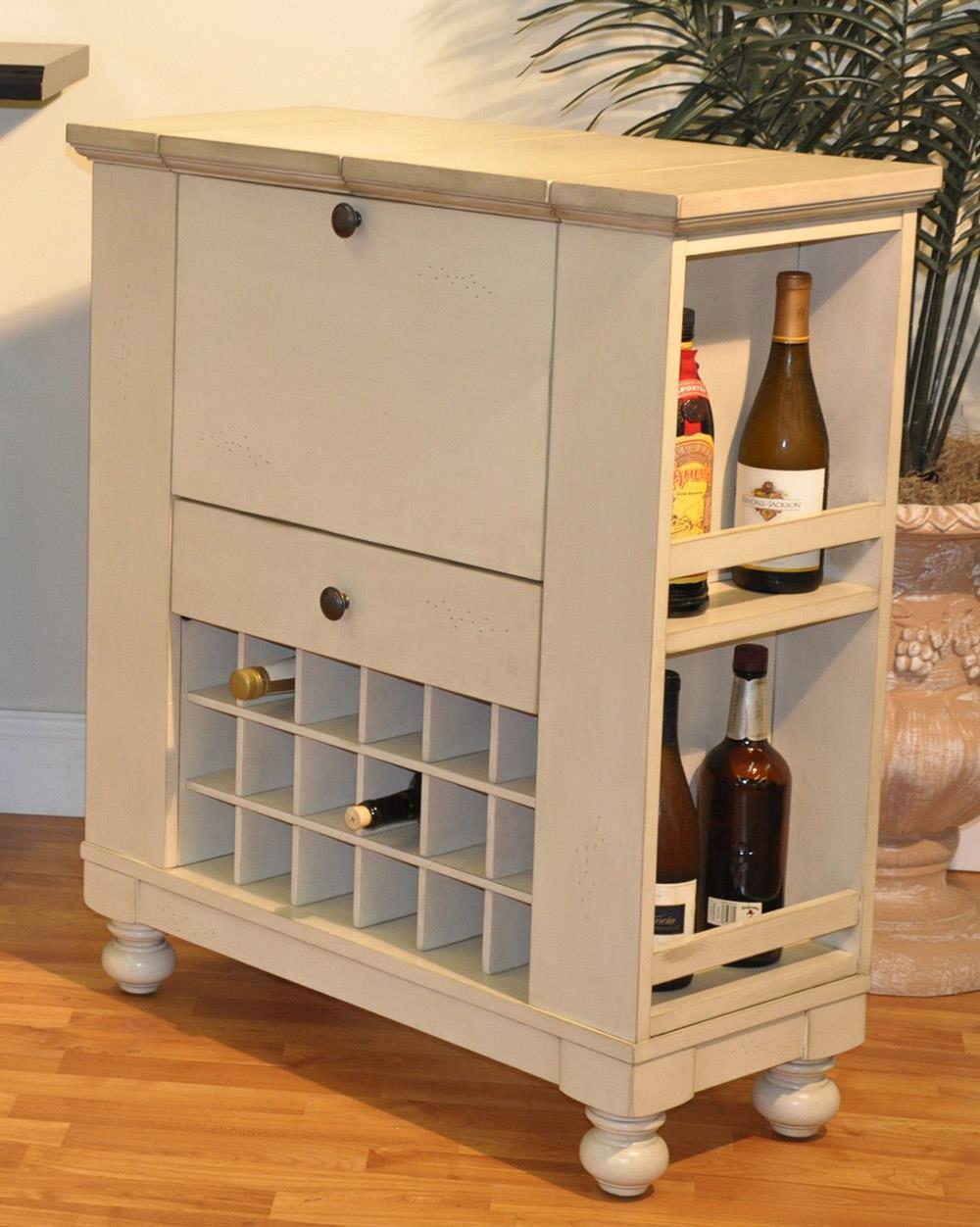 E.C.I. Furniture Dining  Wine/Spirit Cabinet: Antique White - Item Number: 1866-20-WB