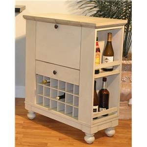 E.C.I. Furniture Dining  Wine/Spirit Cabinet: Antique White