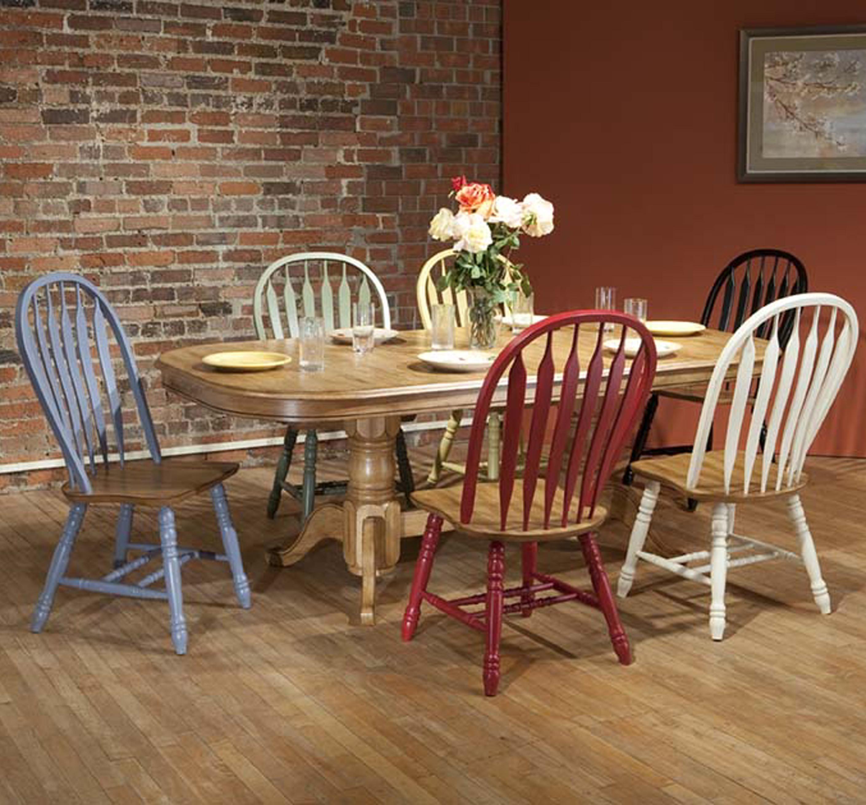 E.C.I. Furniture Dining  7 Piece Set - Item Number: 2100-04-T/B/2190-13/12/14/10/20/15