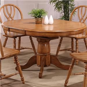 E.C.I. Furniture Dining  Single Pedestal Dining Table