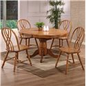 E.C.I. Furniture Dining  5 Piece Set - Item Number: 2150-04-B/T/4xS
