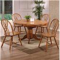 E.C.I. Furniture Dining  5 Piece Set - Item Number: 2150-04-B/T/4xS
