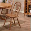 E.C.I. Furniture Dining  Solid Oak Single Pedestal Dining Table with 4 Double X Back Chairs - Side Chair