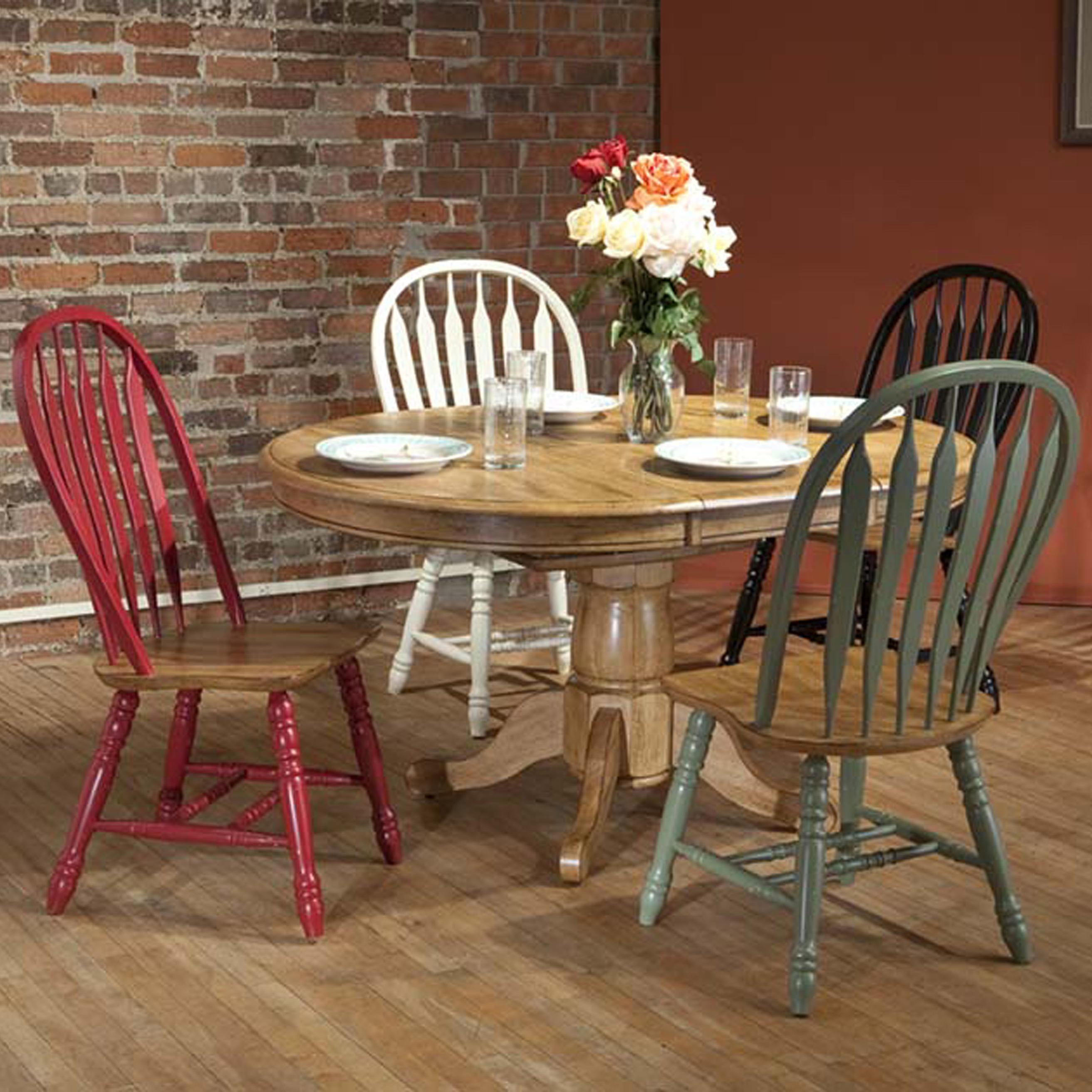 E.C.I. Furniture Dining  5 Piece Set - Item Number: 2150-04-T/P/290-15/20/10/12
