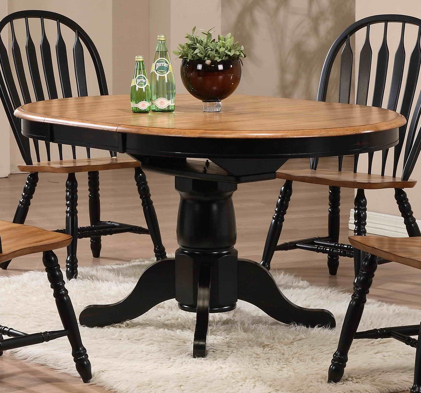 E.C.I. Furniture Dining  Round Dining Table - Item Number: 2150-10-B/T