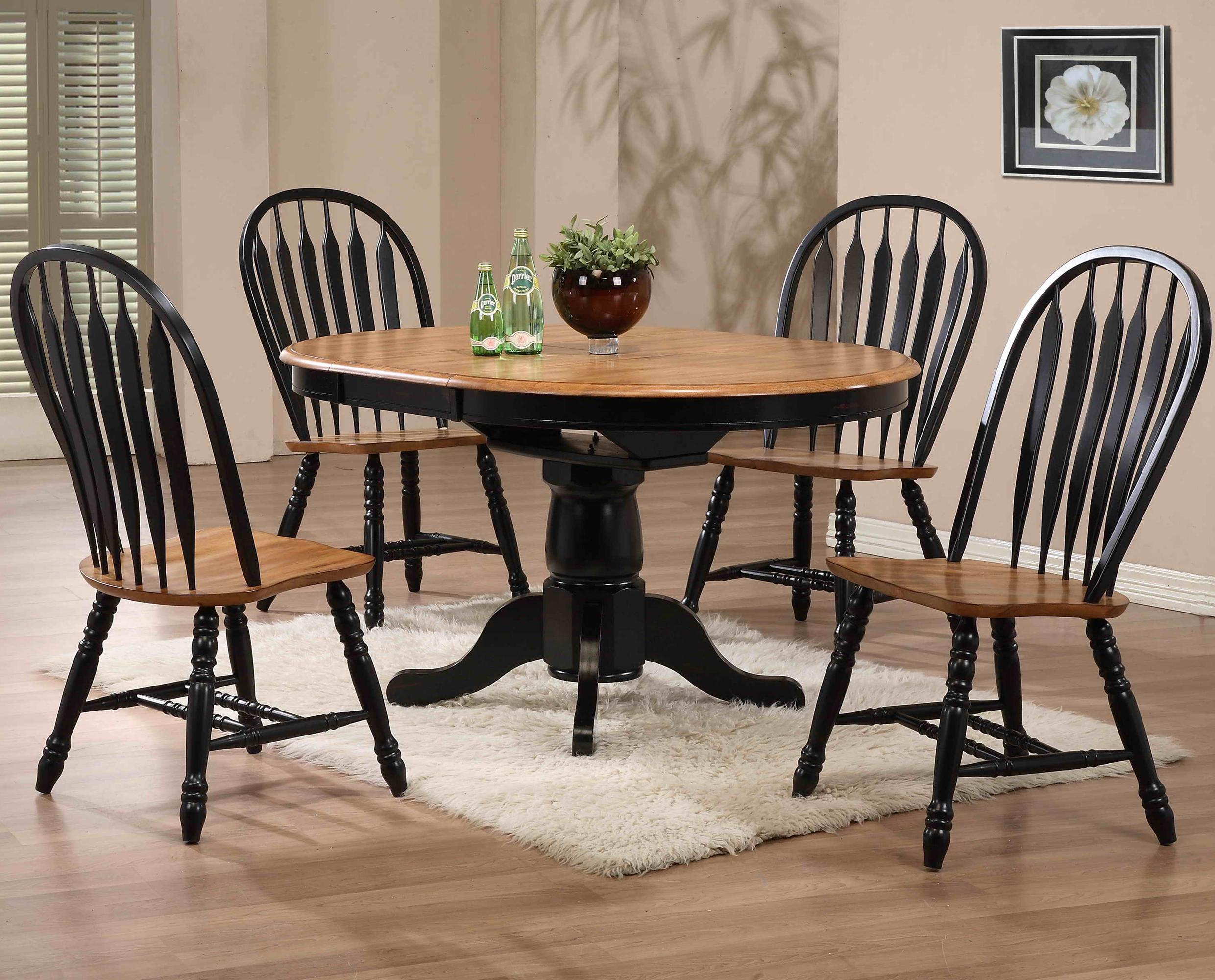 E.C.I. Furniture Dining  5 Piece Set - Item Number: 2150-10-T/P/4x2190-10-S