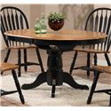 E.C.I. Furniture Dining  Black-Trimmed Round Table with Arrow Back Side Chairs - Round Dining Table