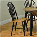 E.C.I. Furniture Dining  Black-Trimmed Round Table with Arrow Back Side Chairs - Side Chair