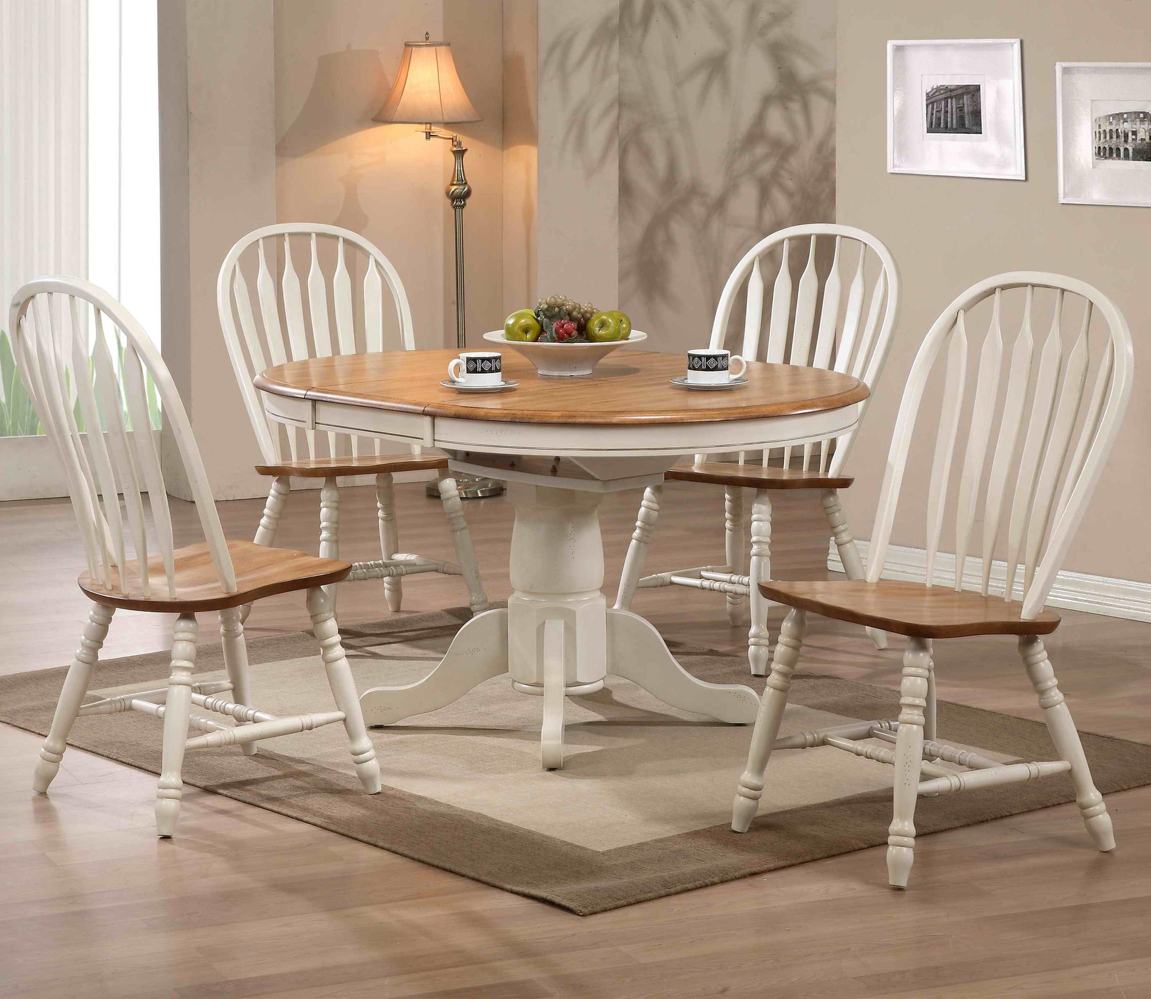 E.C.I. Furniture Dining  5 Piece Set - Item Number: 2150-20-T/P/4x2190-20-S