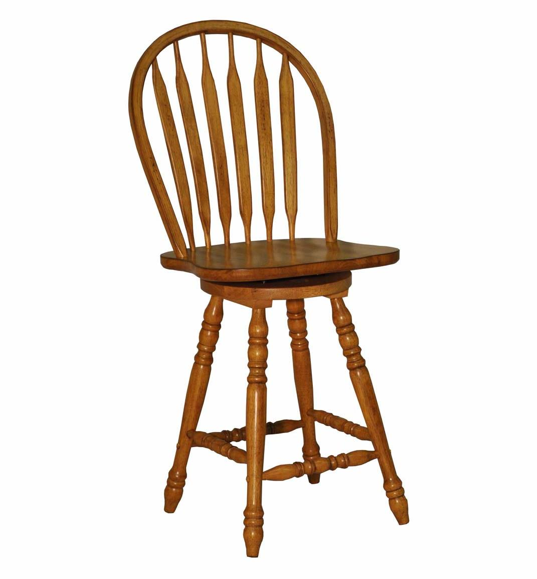 E.C.I. Furniture Dining  Large Bow Back Counter Stool - Rustic - Item Number: 2190-04-BS24