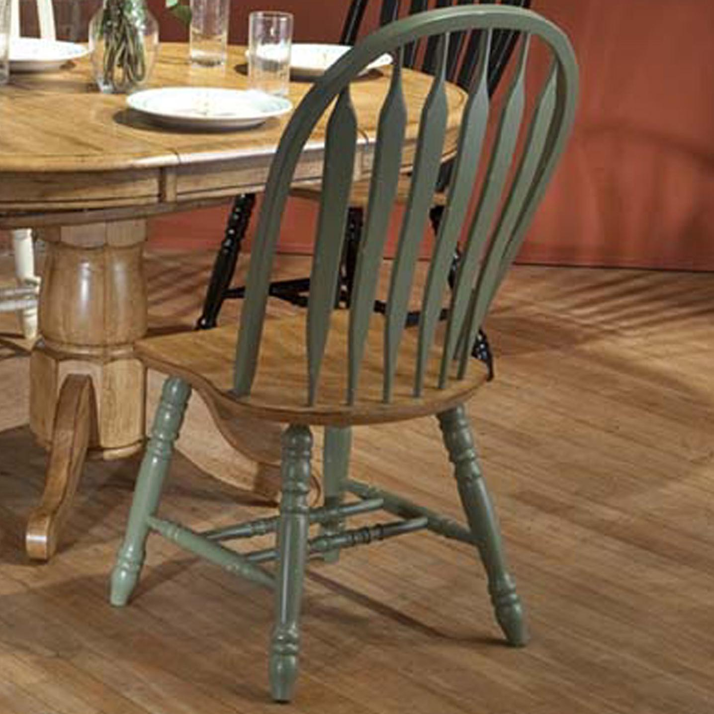 E.C.I. Furniture Dining  Green Side Chair - Item Number: 2190-12-S