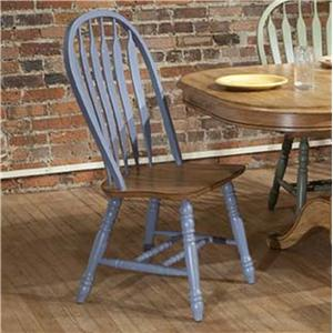 E.C.I. Furniture Dining  Blue Side Chair