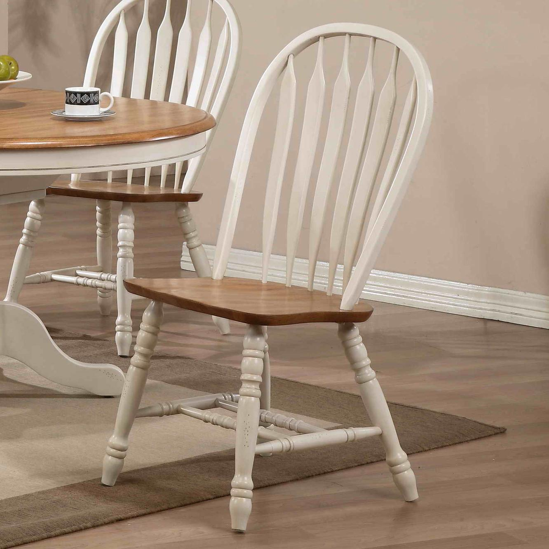 E c i furniture dining arrow back solid oak side chair