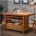 E.C.I. Furniture Dining  Kitchen Island - Item Number: 2222-04-I-B+T