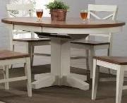 E.C.I. Furniture 0733 White Round Dining Table