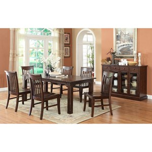 E.C.I. Furniture Gettysburg Casual Dining Room Group