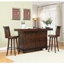 E.C.I. Furniture Gettysburg Gettysburg Bar Set - Item Number: 1475-05-B-T-BS30