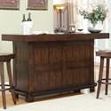 E.C.I. Furniture Gettysburg Gettysburg Bar With Bottle Opener and Swivel Stools