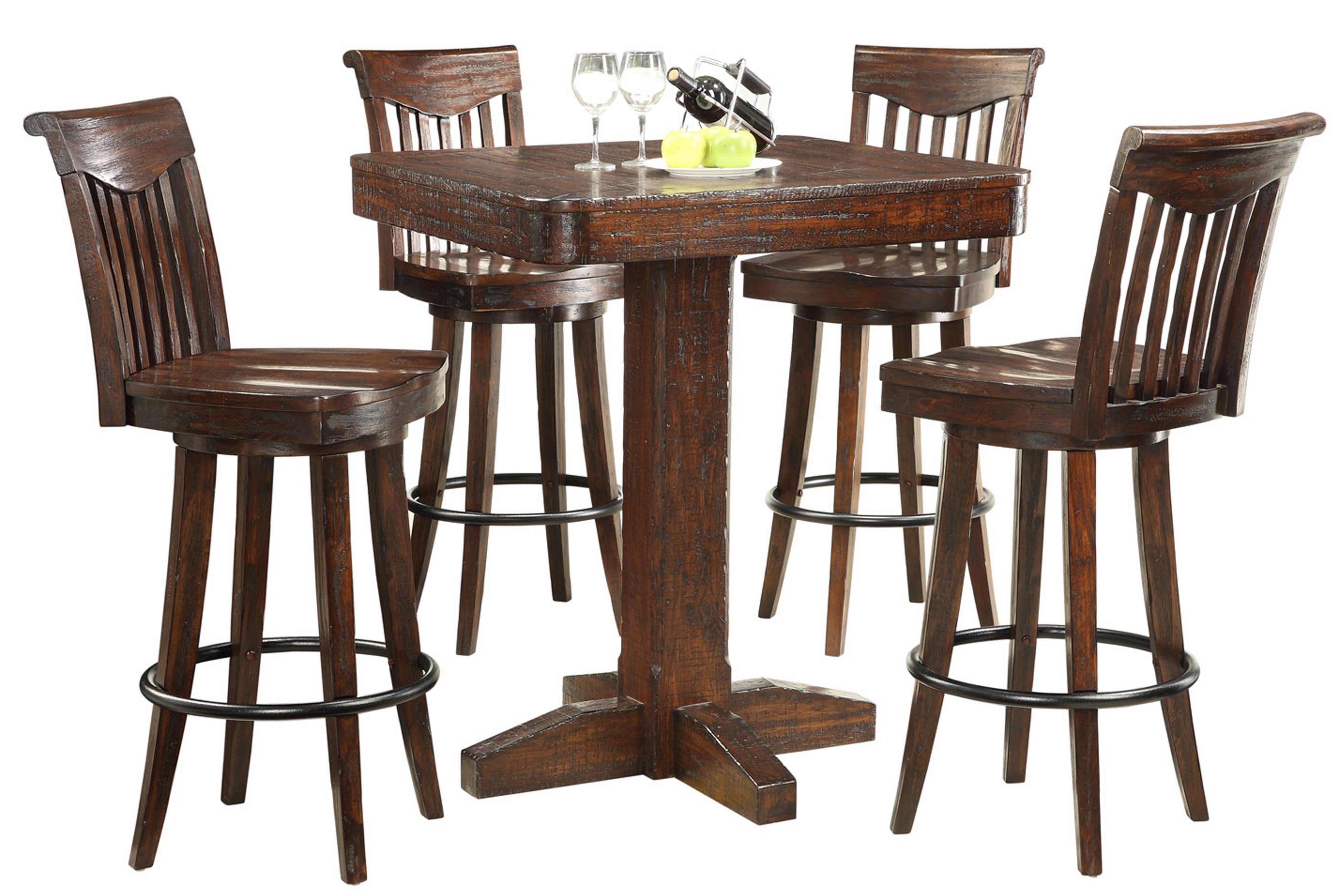 E.C.I. Furniture Gettysburg 5 Piece Pub Table and Stools - Item Number: 1475-05-PT36+4xBS30