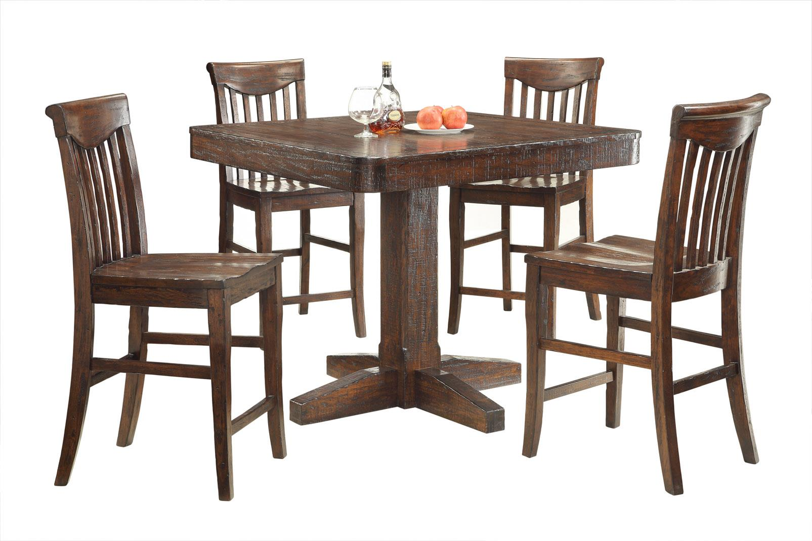 E.C.I. Furniture Gettysburg 5 Piece Counter Height Table and Stools - Item Number: 1475-05-PT44+4xCS